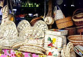 Basketware at Castries Market, St. Lucia