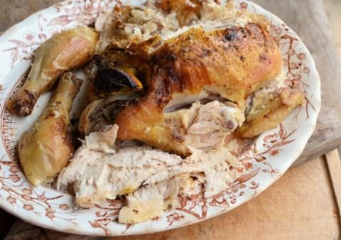Moist roast chicken