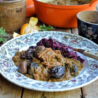 Christmas Eve Comfort Food - Christmas Carollers' Casserole - Elizabethan Spiced Beef Stew
