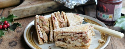 Leftovers Legend! The Great Christmas Turkey, Stuffing, Bacon & Cranberry Club Sandwich