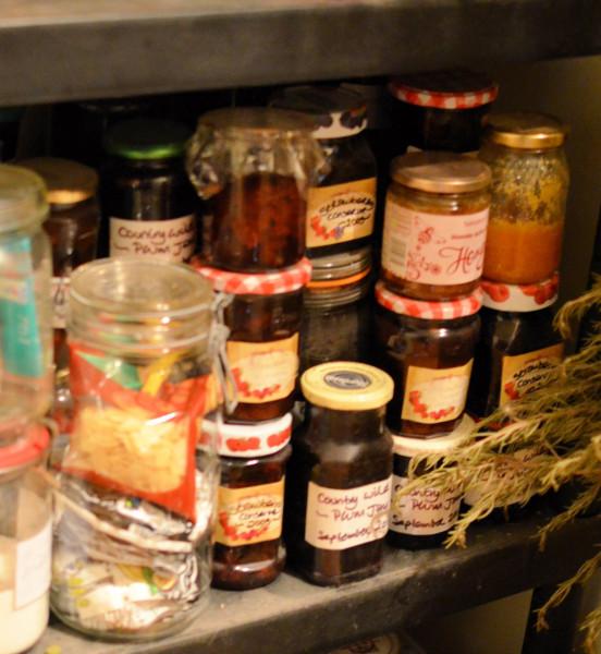 Home-made jams and chutney