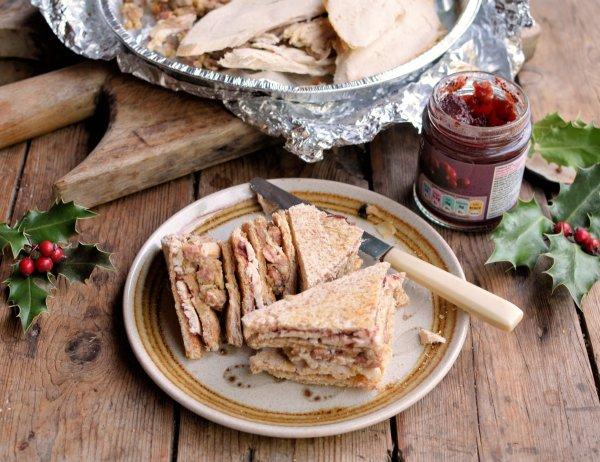 Leftovers Legend! The Great Christmas Turkey & Cranberry Club Sandwich