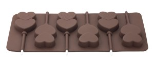 Double Heart Chocolate Lolly Moulds 1