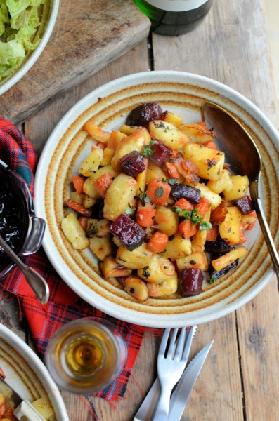 """Roasted """"Tartan Veggies"""" with Smoked Sea Salt, Honey and Thyme and other Burns Night Recipes"""