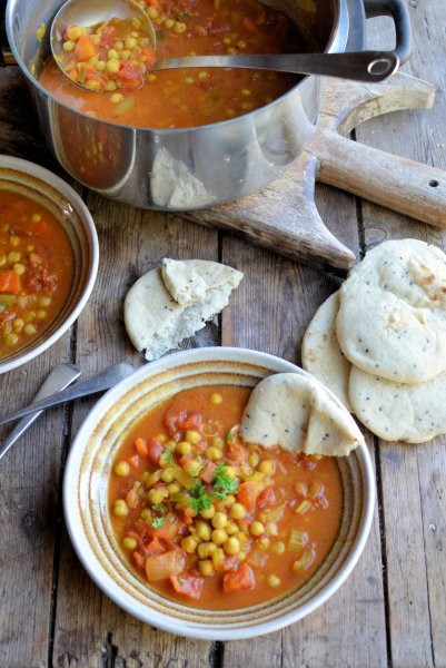 On the Spice Trail  Moroccan Harissa and Chickpea Potage (Soup) Recipe