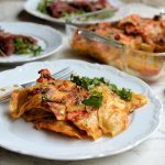 Tortellini Pasta Bake with Sun-Dried Tomato Pesto & Mozzarella