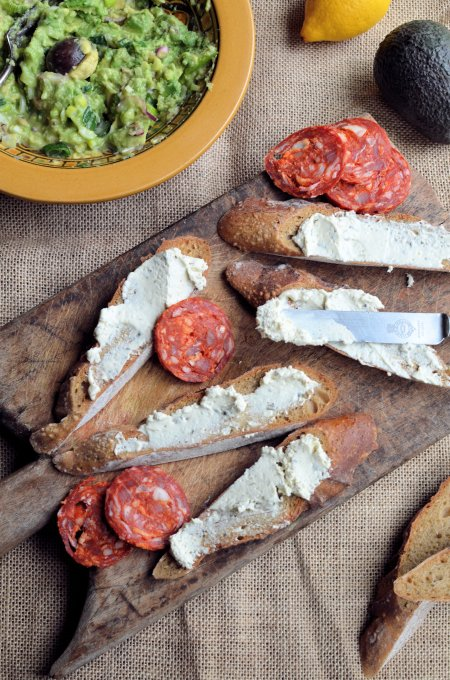 South African style Guacamole and Cream Cheese Tartines with Philadelphia Cream Cheese
