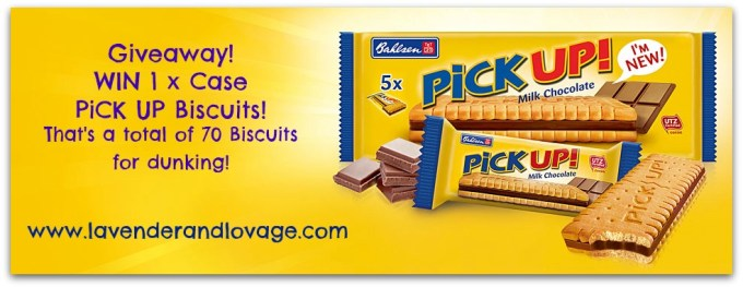 Giveaway: Win a case of PiCK UP Milk Chocolate Biscuits (70 Biscuits)