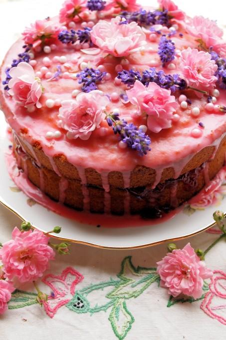 Vanilla, Rose and Lavender Gateau