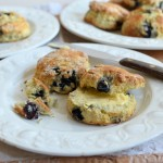 Holiday, Piers and Baking with Mum! Fresh Blueberry Scones Recipe