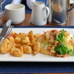 Lobster Benedict with Breakfast Potatoes