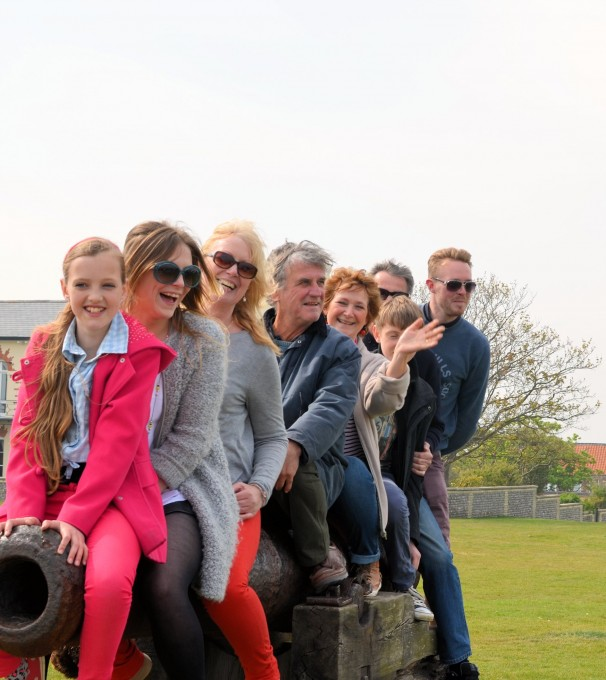 ALL of us sat on one of the cannons at Gun Hill Southwold!
