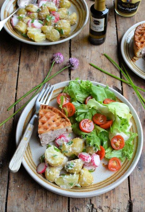 New Potato & Radish Salad in a Creamy Truffle Oil Dressing