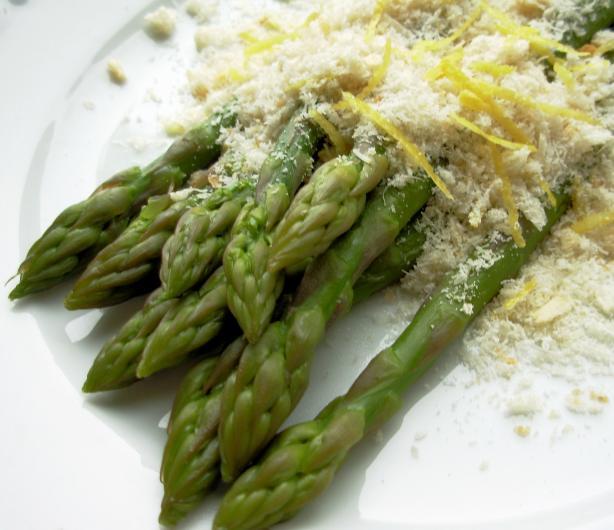 The Secret Recipe Club: Fresh Asparagus with Lemon Crumbs