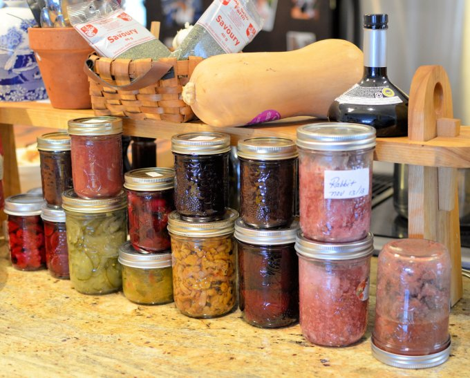 tasting tour through my pantry,  including bakeapples, partridgeberries, blueberries, black currants and gooseberries.