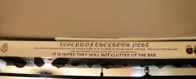 The Crows Nest, St John's, message to the ladies!