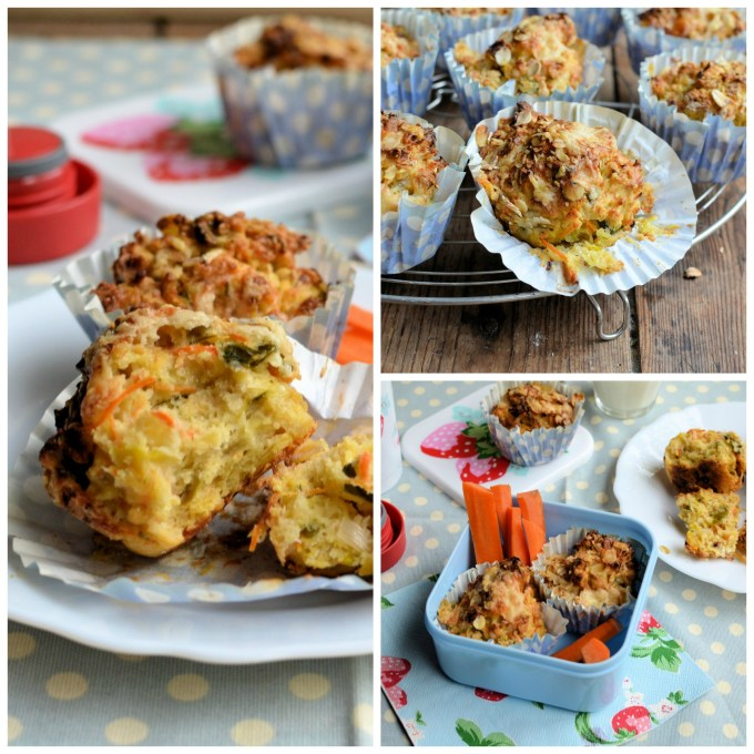 Carrot, Leek and Oat Cheese Muffins (For breakfast on the go)