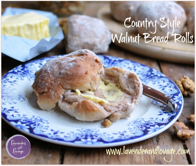Country Style Walnut Bread Rolls