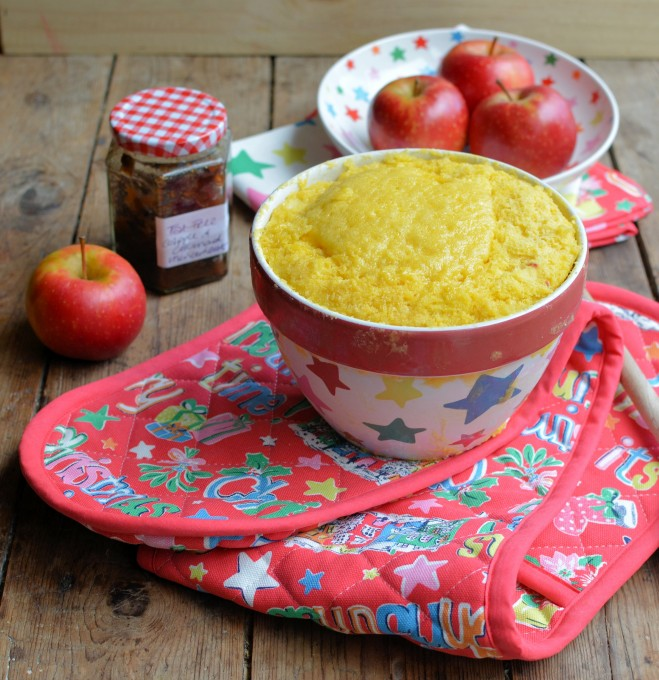 Easy Apple and Mincemeat Pudding