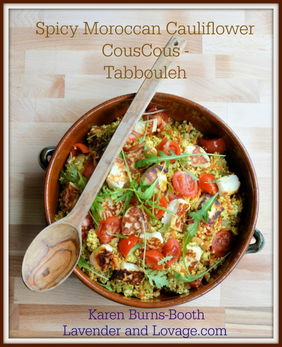 5:2 Diet Recipe: Spiced Moroccan Cauliflower Couscous - Tabbouleh with Halloumi