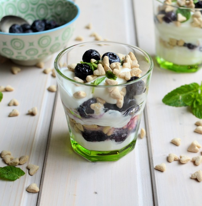 Little Blueberry & Yoghurt Oat Pots