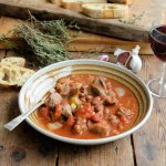PORK & FENNEL WITH RED WINE & BORLOTTI BEANS