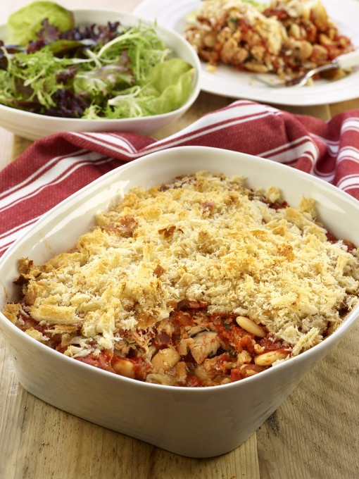 SALMON AND BUTTER BEAN BAKE By JAMES MARTIN