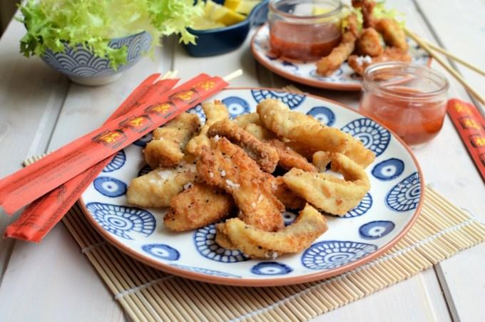 salt and pepper fish goujons