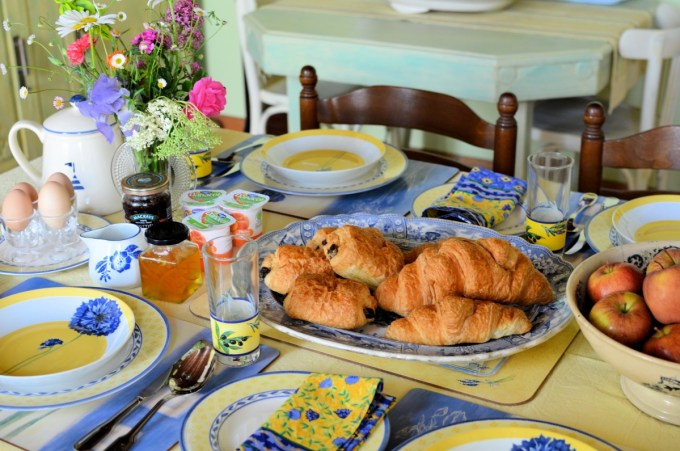 Big and filling Full French Breakfasts in the Breakfast Room