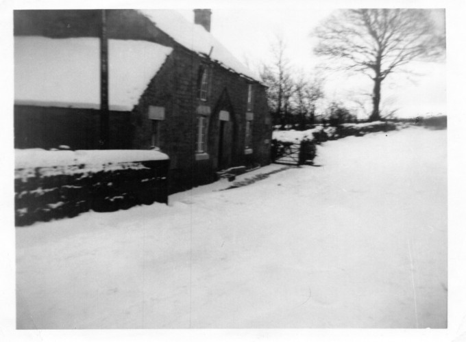 Burnside Cottage in the snow, Newlands, Near Ebchester, Co Durham