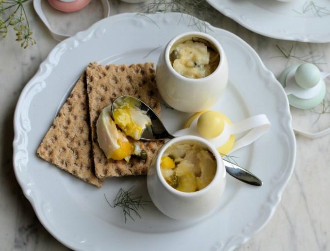 Coddled Eggs Served