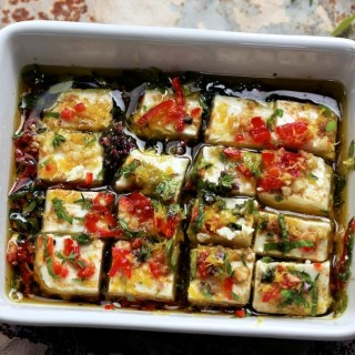 The Glamorous Glutton does Marinated Feta