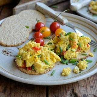 Scrambled Eggs on Oatcakes