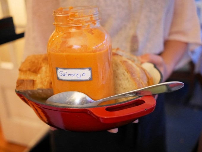 Grilled Bread with Salmorejo