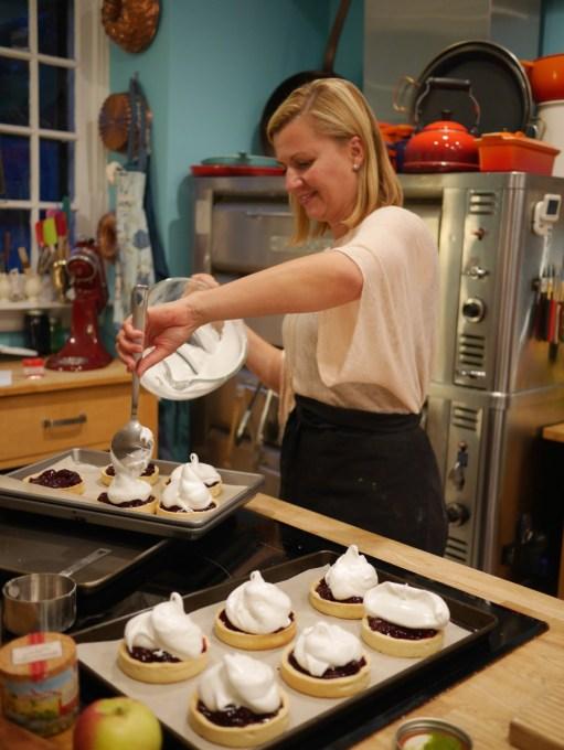 Anna Olson making her Blackberry Meringue Tarts