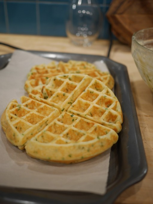 Scallion Waffles