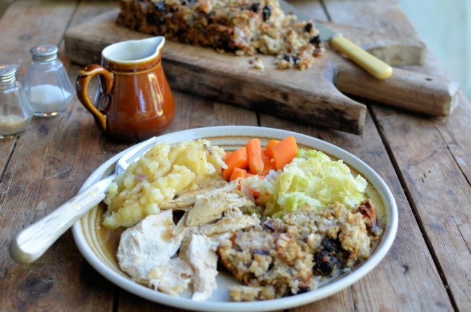 Gluten Free Fruit, Sausage & Herb Stuffing Loaf