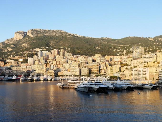 Docking in Monaco on board the Silver Spirit