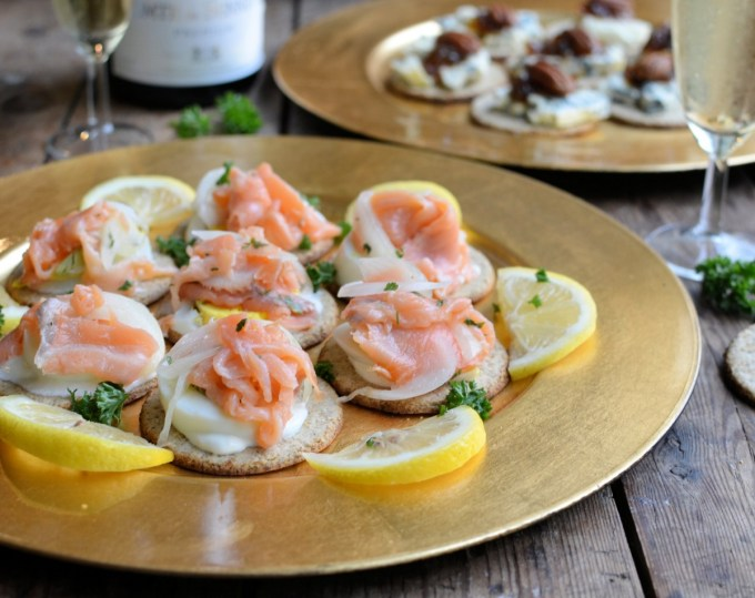 Smoked Salmon Oatcake Canapes
