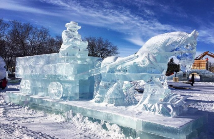 Ice Sculpture at The Great Ice Show, Winnipeg