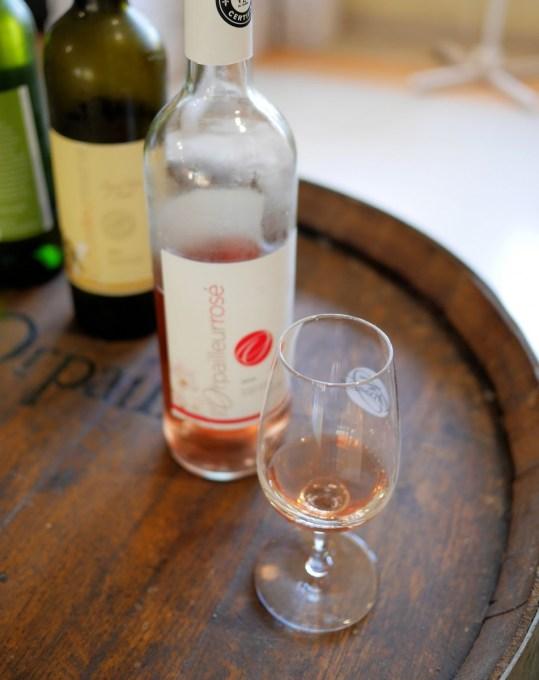 Rose wine at Vignoble de l'Orpailleur