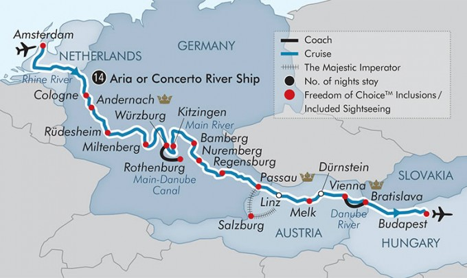 APT River Cruise Map