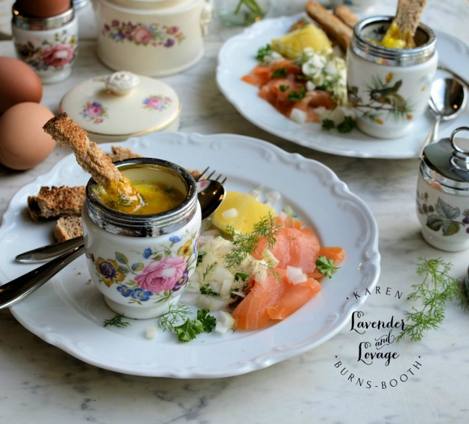Coddled Eggs with Smoked Salmon & Dill