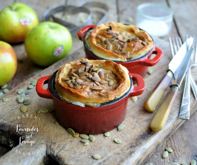 Pork Sausage, Leek & Apple Pies