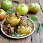 Savoury Sausage and Sage Baked Apples
