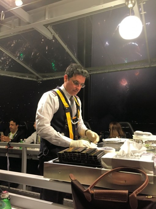 Dining in the Sky with Qatar Airways Business Class
