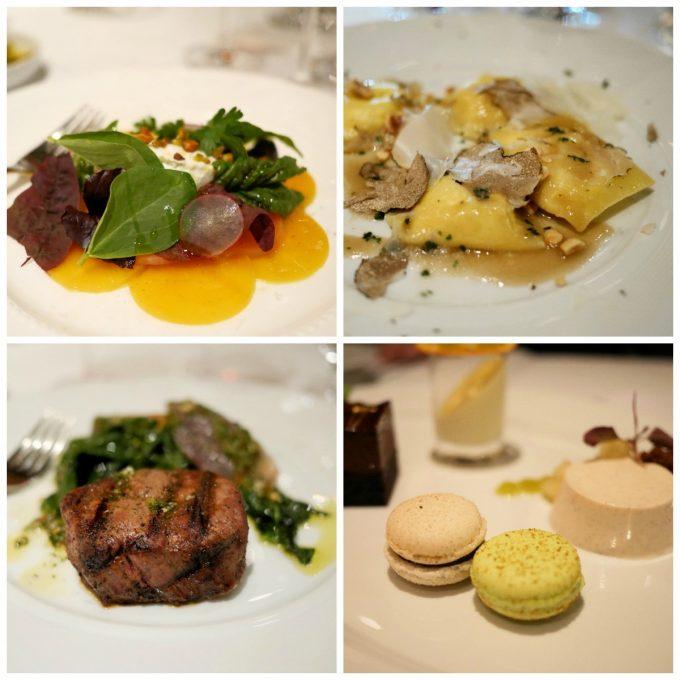 Four course meal at CinCin Italian Ristorante Vancouver