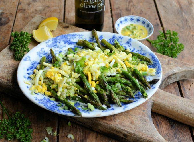 Summery Asparagus Gribiche for Brunch