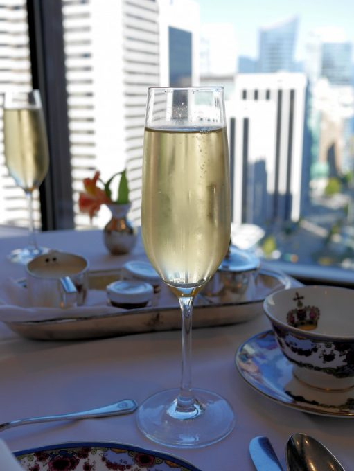 Champagne at Tea at the Top Fairmont Vancouver Hotel