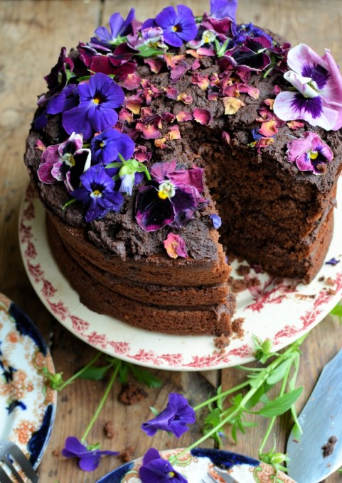 """Kladdkaka"" Swedish Chocolate Fudge Cake"